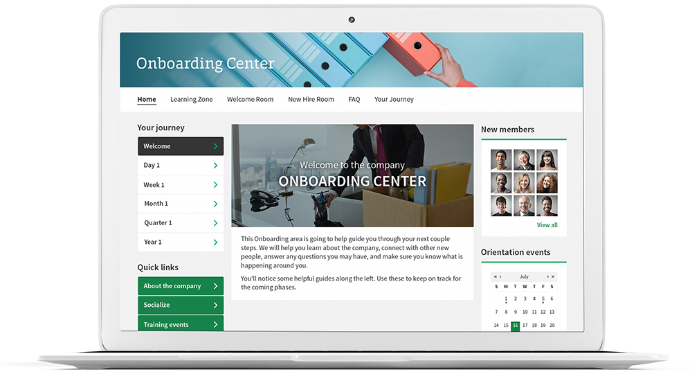 Intranet Onboarding Center Solution