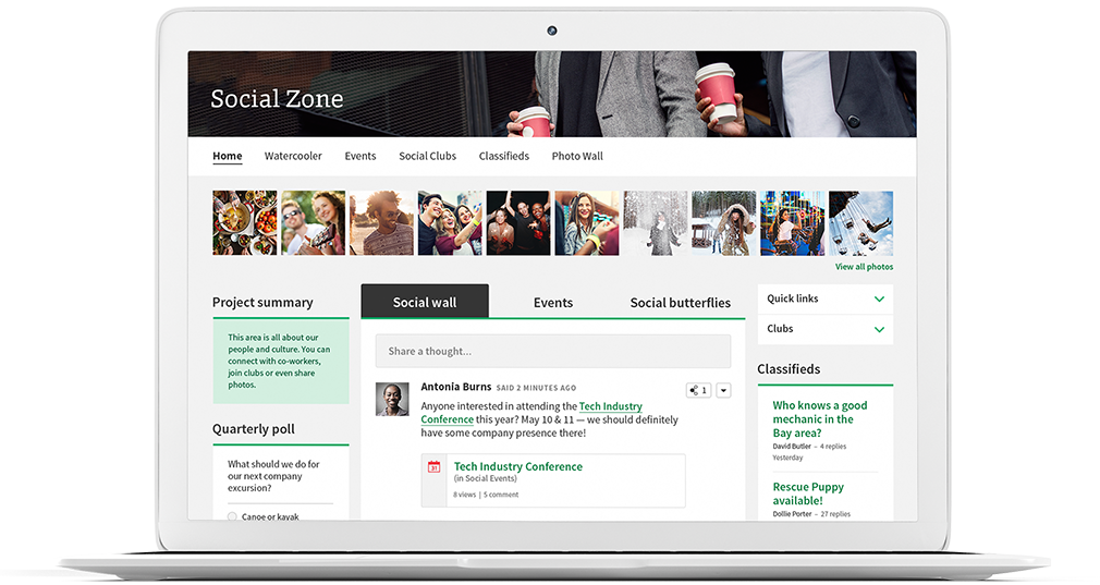 Intranet Social Zone solution